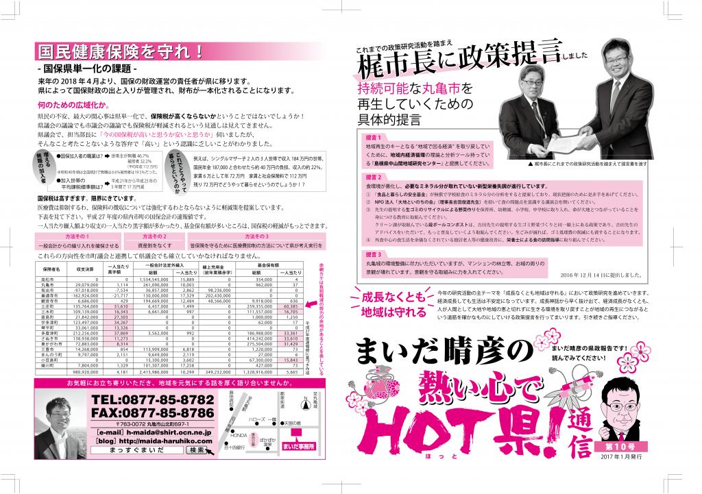 HOT県通信・第10号(外面)